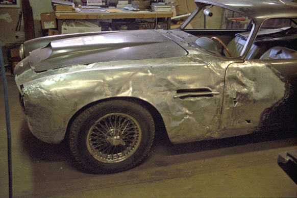 This 1961 Aston Martin DB4 had an unfortunate encounter at an intersection in San Francisco.