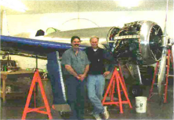 Ron Englund, left, project manager for the H-1, and the author in a recent photo of the Hughes racer