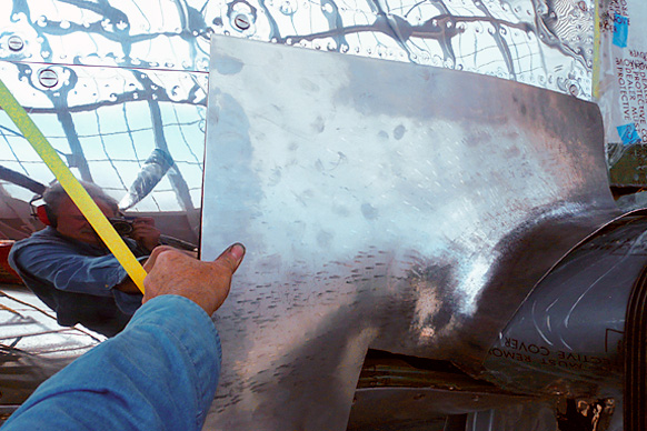 Replacing Damaged Wing Root Fairings