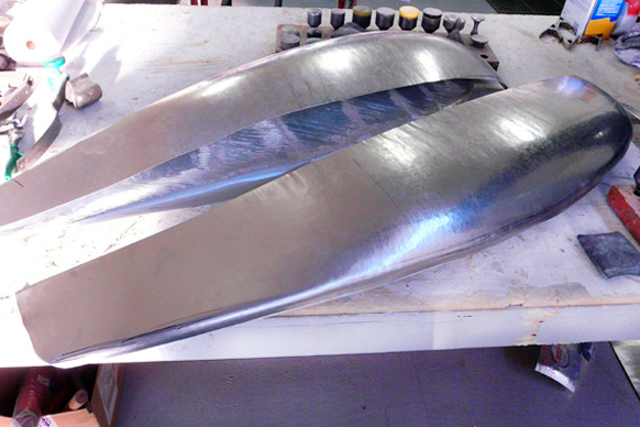 Making an aluminum airplane wing tip
