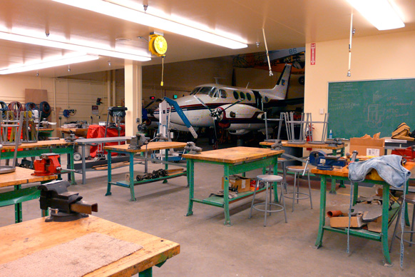 TM Technologies Aircraft Metal Workshop Fairbanks Kent White