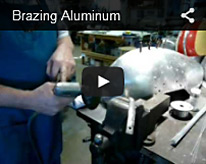 brazing aluminum video