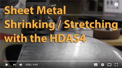 sheet metal shrinking stretching with the HDAS4