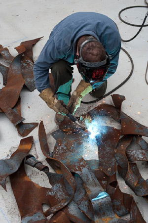 George Schroeder welding forged components