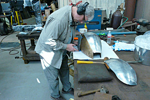 Making fitting fuel tank sections