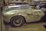Aston Martin DB4 totaled