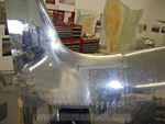 Hughes H1 aluminum tail repaired smooth
